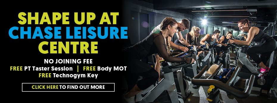 Shape up at Chase Leisure Centre